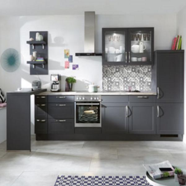 nobilia® Moderne Landhausküche mit Rahmenfront