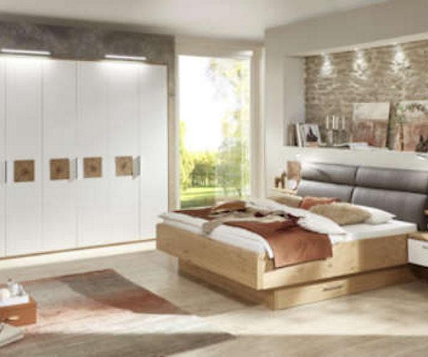 Schlafzimmer Z15944 Wildeiche/Lack weiß