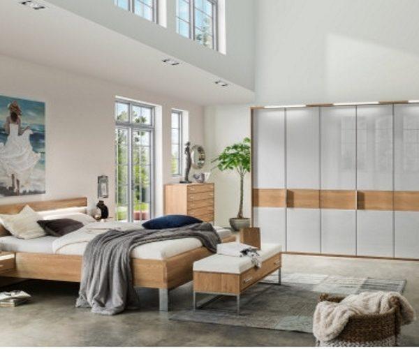 Schlafzimmer Eiche/Glas, modern