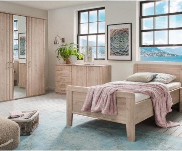 Single-Schlafzimmer Steineiche-Nachbildung