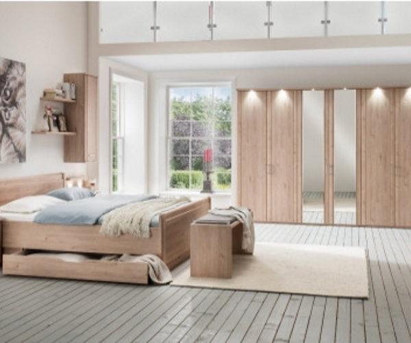 Schlafzimmer Steineiche-Nachbildung