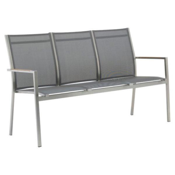zebra-one-gartenbank-edelstahl-textilgewebe-dark-grey
