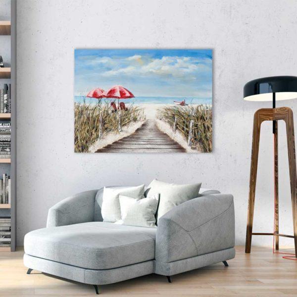 Imageland Bild Holzbrücke zum Strand