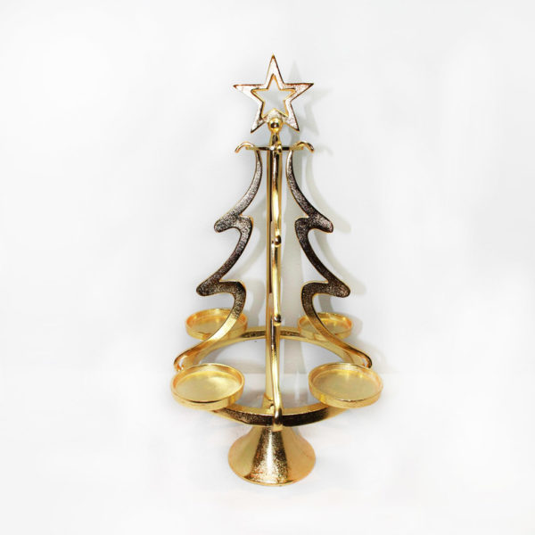 Kerzenhalter Christbaum gold