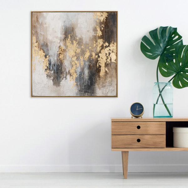 Imageland Bild Abstrakte Farbkomposition braun und gold