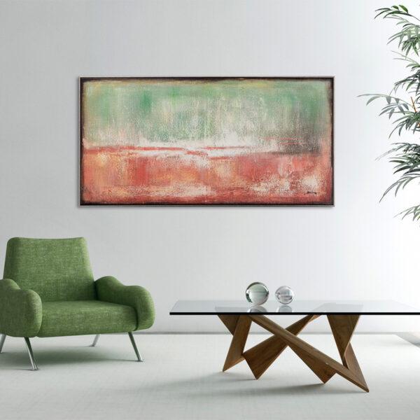 Imageland Bild Abstrakte Farbkomposition in rot und beige III