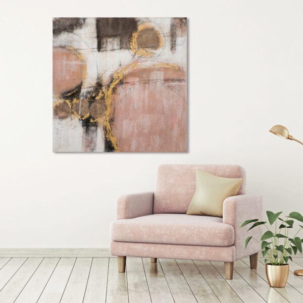 Imageland Bild Abstrakt mit rosa